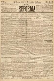 Nowa Reforma. 1883, nr84