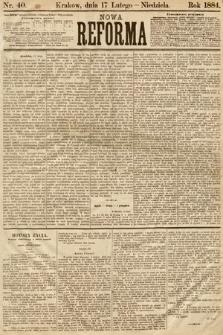 Nowa Reforma. 1884, nr40