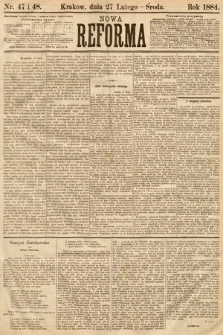 Nowa Reforma. 1884, nr47 i 48