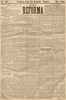 Nowa Reforma. 1884, nr193