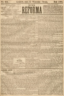Nowa Reforma. 1884, nr214