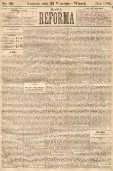 Nowa Reforma. 1884, nr219