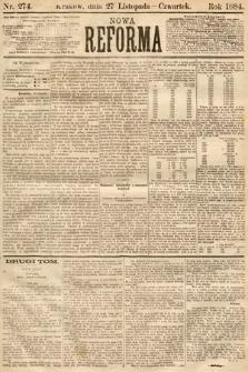 Nowa Reforma. 1884, nr274