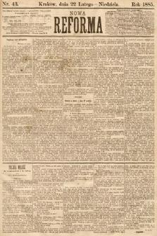 Nowa Reforma. 1885, nr43