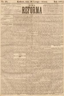 Nowa Reforma. 1885, nr48