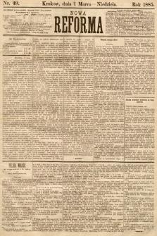 Nowa Reforma. 1885, nr49