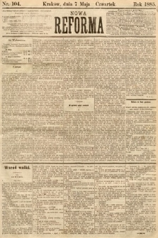 Nowa Reforma. 1885, nr104