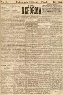 Nowa Reforma. 1885, nr181