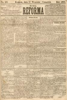 Nowa Reforma. 1885, nr211