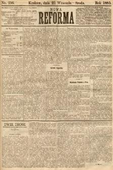 Nowa Reforma. 1885, nr216