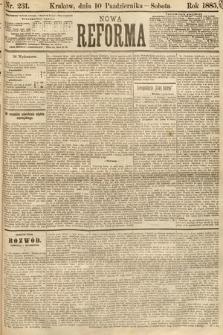 Nowa Reforma. 1885, nr231