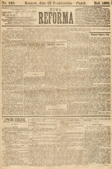Nowa Reforma. 1885, nr242