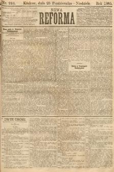 Nowa Reforma. 1885, nr244