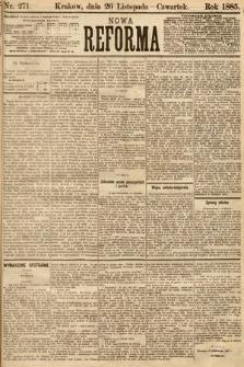 Nowa Reforma. 1885, nr271