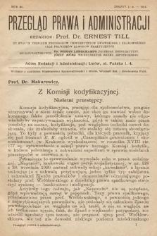 Przegląd Prawa i Administracji : rozprawy i zapiski literackie. 1921, z.1-6