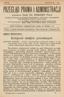 Przegląd Prawa i Administracji : rozprawy i zapiski literackie. 1921, z.10-12