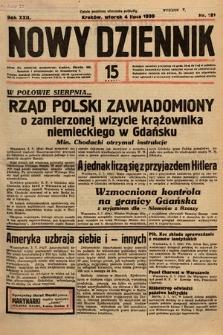 Nowy Dziennik. 1939, nr181