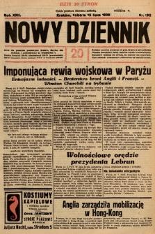 Nowy Dziennik. 1939, nr192