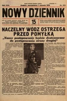 Nowy Dziennik. 1939, nr215