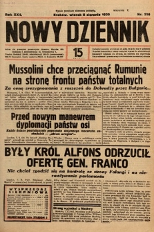 Nowy Dziennik. 1939, nr216