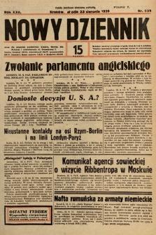 Nowy Dziennik. 1939, nr231