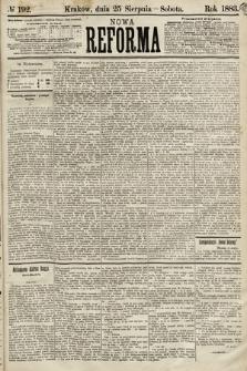 Nowa Reforma. 1883, nr192