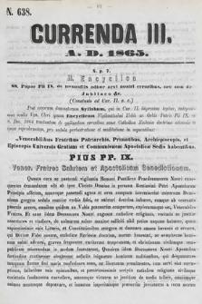 Currenda. 1865, kurenda3