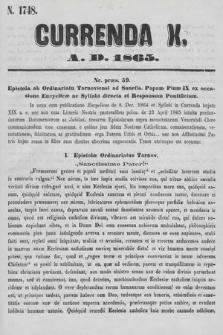 Currenda. 1865, kurenda10