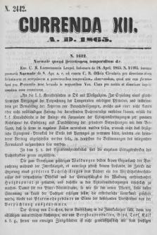 Currenda. 1865, kurenda12