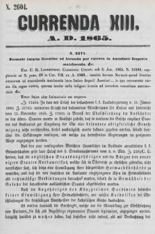 Currenda. 1865, kurenda13