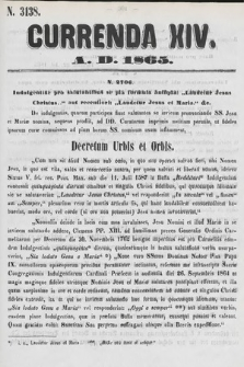 Currenda. 1865, kurenda14