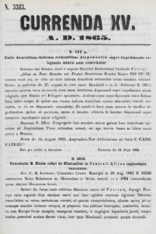 Currenda. 1865, kurenda15