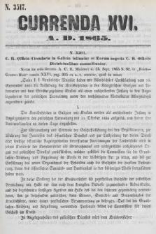 Currenda. 1865, kurenda16