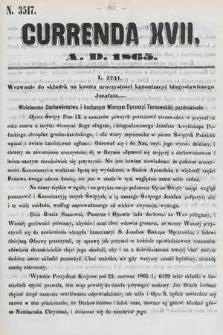 Currenda. 1865, kurenda17