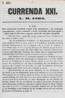 Currenda. 1865, kurenda21