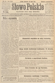Słowo Polskie. 1921, nr318