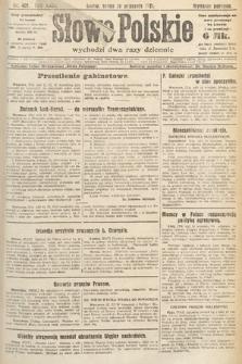 Słowo Polskie. 1921, nr407