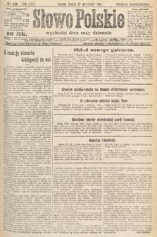 Słowo Polskie. 1921, nr420