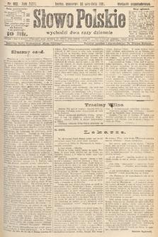Słowo Polskie. 1921, nr422