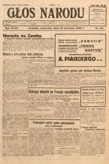 Głos Narodu. 1936, nr111