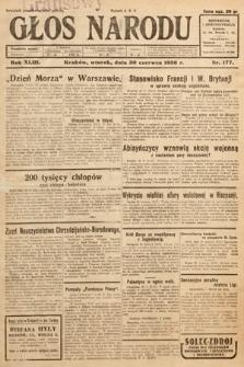 Głos Narodu. 1936, nr177