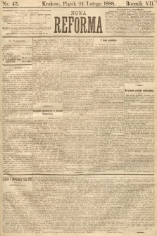 Nowa Reforma. 1888, nr45