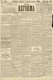 Nowa Reforma. 1888, nr228