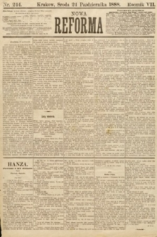 Nowa Reforma. 1888, nr244