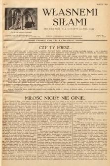 Własnemi Siłami : miesięcznik dla kobiety katolickiej. 1936, nr3