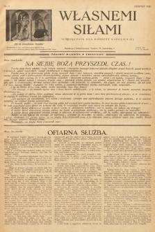 Własnemi Siłami : miesięcznik dla kobiety katolickiej. 1936, nr8