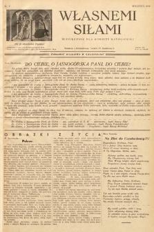 Własnemi Siłami : miesięcznik dla kobiety katolickiej. 1936, nr9