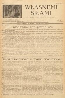 Własnemi Siłami : miesięcznik dla kobiety katolickiej. 1936, nr11