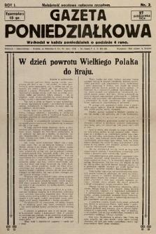 Gazeta Poniedziałkowa. 1924, nr3