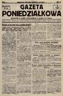 Gazeta Poniedziałkowa. 1924, nr7